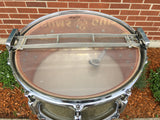 1963 Rogers 6.5x14 Wood Dynasonic Snare Drum in Silver Sparkle