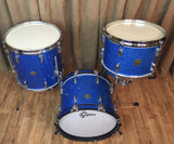 "Gretsch 1960's Round Badge Micro Bop Set w/ 15"" Bass Drum in Blue Glass Glitter"