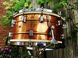 "Extremely Rare 1930's Frank Wolf 7""x14"" 2-to-1 Copper Shell Snare Drum"