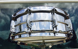 "1960 Ludwig Chrome Over Brass Pre-Serial 5""x14"" Supraphonic Snare Drum"