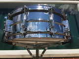 1959 Ludwig Chrome Over Brass Trans-Badge 5″x14″ Supraphonic Snare Drum