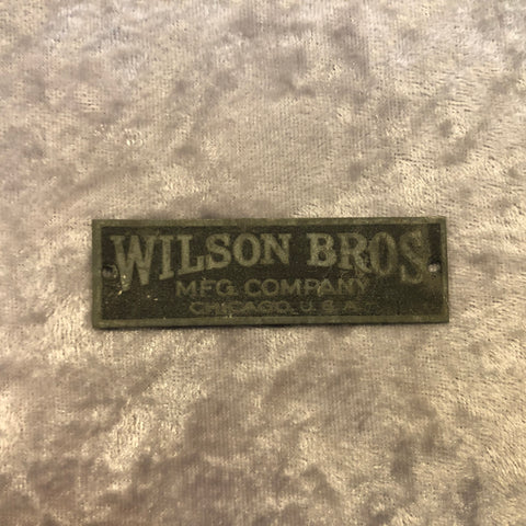 1920s Vintage Wilson Brothers Snare / Bass Drum Badge
