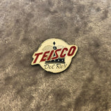 1960s Teisco Del Rey Crown Logo Glue On Brass Badge