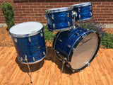 "1960's Slingerland Blue Agate Set - New Rock Outfit No. 50N w/ 24"" Bass Drum"