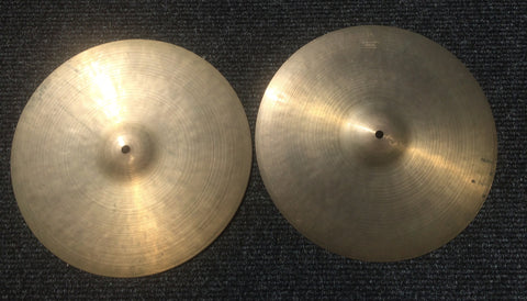 14″ Pair of 1960's Zildjian K Hi-Hat Cymbals 822g/828g – Inventory # 170