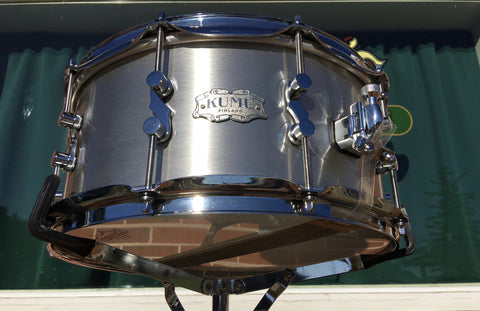 "KUMU 6.5""x14"" Brushed Aluminum Snare Drum from Finland"