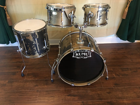 "Kumu ""All Birch Custom"" Drum Set - Stunning One-Off NAMM Set - Custom ""BlackGold"""