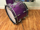 "Early 1970s Slingerland Purple Sparkle ""No. 9N Modern Jazz Outfit"" Drum Set 20"" 12"" 14"""