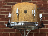 "Leedy Broadway Parallel 1937 Solid Shell Gold Sparkle 8""x14"" - Single Ply - Stunning!"