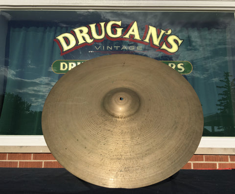 "22"" 1950's Zildjian A Large Block Stamp Ride Cymbal 2380g - Inventory #321"