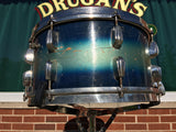 "Slingerland Radio King 1944-45 WWII era 7""x14"" Blue-Silver Duco Snare Drum"