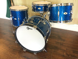 1960s Camco Oaklawn Blue Sparkle Tuxedo Eddie Knight Drum Set
