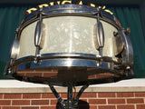 "Slingerland 1940's 5.5""x14"" Radio King WMP Cloud Badge"
