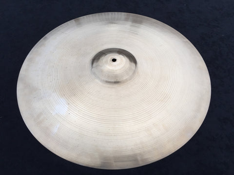 "22"" 1950's Zildjian A Large Block Stamp Ride Cymbal 2632g #313"