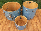 Slingerland 1966 Sky Blue Ripple Drum Set