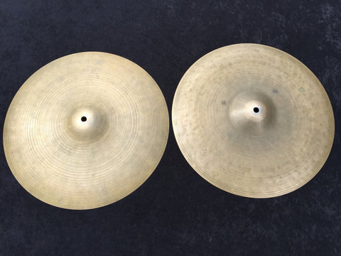 "14"" 1960's Zildjian K Istanbul Hand Hammered Hi-Hat Cymbals 796g / 970g - Inventory # 311"