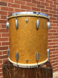 1936-42 Slingerland Radio King 16x16 Gold Sparkle Floor Tom