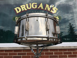 Leedy & Ludwig Rare 1951 The Reliance 6.5x14 8 Lug Nickel Over Brass Snare Drum