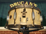 "Slingerland 1936 6.5""x14"" Broadcaster Radio King Snare in White Marine Pearl - Rare!"