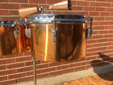"1948-52 WFL / Ludwig Timbale Drum Set With Dual Cowbells and Stand  10.5"" & 13"""