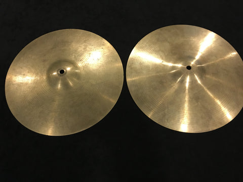 "13"" Paiste Formula 602 Pre Serial Number 1960s Hi-Hat Cymbals 604g/756g #485"