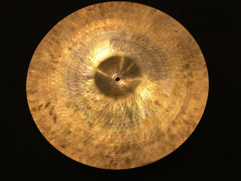 "18"" Vintage Zildjian MEDIUM Trans Stamp Early 1950s Crash/Ride Cymbal 1534g #492"