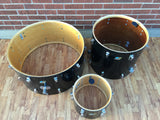 "Ludwig 1970 Black Cortex Set with 14""x28"" Bass Drum!"
