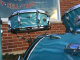 1966 Slingerland Drum Set Green Satin Flame 22/13/16/Artist 5.5x14 Snare