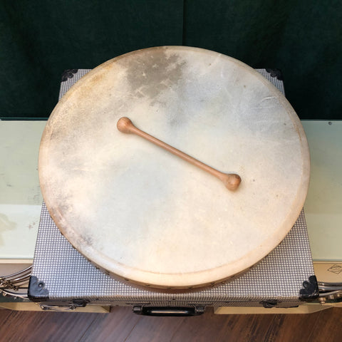 "18"" Tune-able Bodhran w/ Tipper, Made by Mid East"