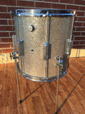 1960's Rogers 14x14 Tower Floor Tom Drum Silver Sparkle