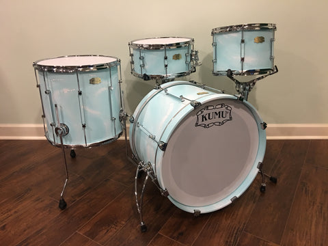 Kumu All Birch Custom One-Off Drum Set in Special Seafoam Finish for NAMM