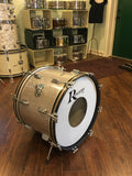1960's Rogers Cleveland 14x20 Holiday Silver Glass Glitter Sparkle Bass Drum