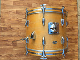 1970's Slingerland 14x18 Bop Bass Drum 3 Ply Natural Maple
