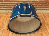 "1960s Rogers 14""x24"" Holiday Dayton Bass Drum - Blue Onyx"