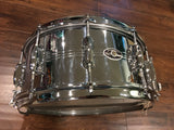 1970's Slingerland 10 Lug Gene Krupa Chrome Over Brass Snare Drum 6.5X14