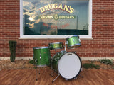 1967 Ludwig Green Sparkle Club Date Set W/ Matching Jazz Festival