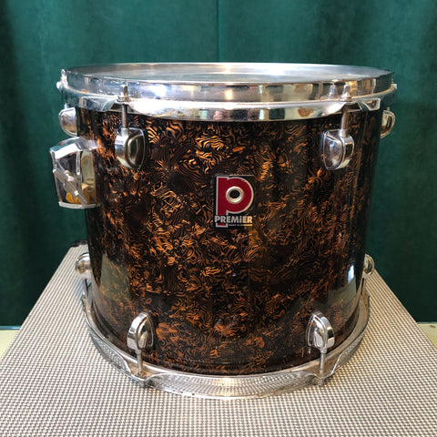 Premier 11x13 Tom Drum Brown Swirl