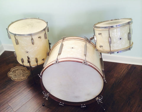 Vintage 1948 Ludwig & Ludwig No.1196 Deluxe Outfit WMP
