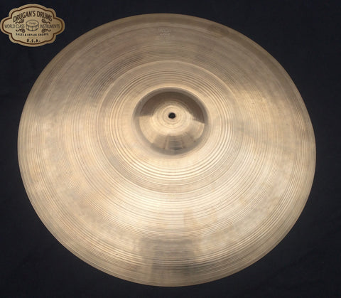 "22"" 1950's Zildjian Large Block Stamp Ride Cymbal 2678g #153"