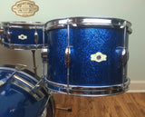 "Camco Oaklawn Blue Sparkle Tuxedo Set 20/12/14/5""x14"" Snare"