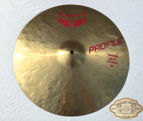"18"" Meinl Dragon Profile China Fast Crash Cymbal 1502g - Inventory # 147"