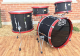 "Kumu ""All Birch Custom"" Drum Set - Stunning one-off NAMM Set - Black Brocade"
