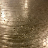 "20"" Zildjian A Early 1950s Trans Stamp Ride Cymbal 1966g #459"