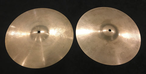 "13"" Paiste Formula 602 Pre Serial Number 1960s Hi-Hat Cymbals 708g/738g #362"