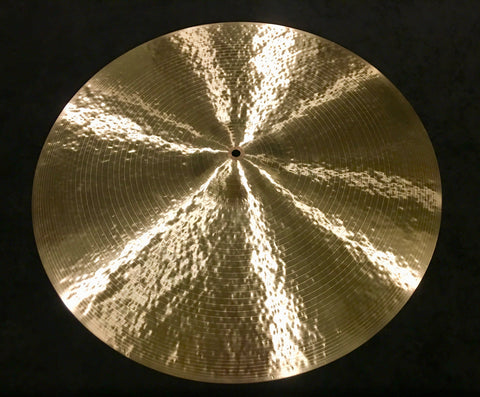 "24"" Craig Lauritsen Rustico Hand Hammered Artisan Ride Cymbal 2616g"
