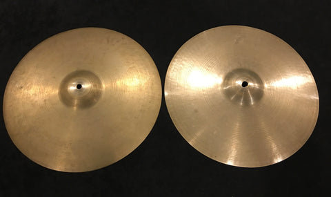 "14"" Zildjian A Early '50s Tran Stamp Hi Hat Cymbal Pair 612/718g #438"