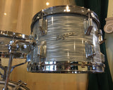 1964 Rogers Steel Gray Ripple Drum Set 20/12/14/5x14 Powertone