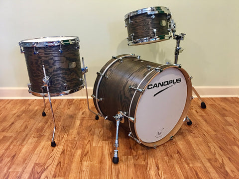 CANOPUS ASH SERIES STUDIO DRUM SET- BLACKISH ASH OIL - 20/12/14