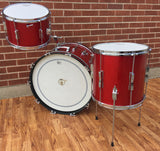 1966 Ludwig Club Date Drum Set - Red Sparkle 22/13/14x14