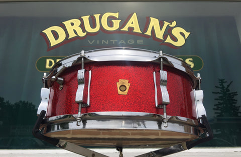 1966 Ludwig Jazz Festival Snare Drum - Red Sparkle - 5x14